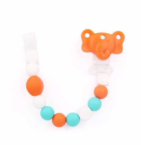 Dummy Clip / Pacifier Chain - ELEPHANT