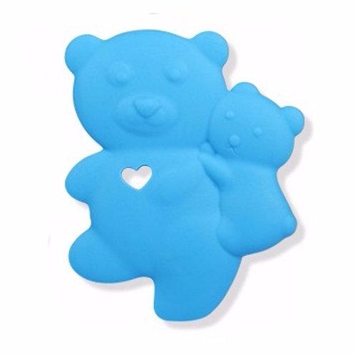 """Jouet de Dentition en Silicone """"Petit Ourson"""" - Bleu Ciel"""