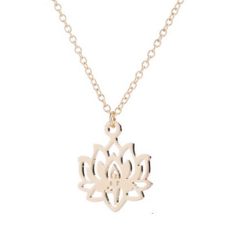 """Collier Bouddhiste ☾ """"Fleur de Lotus"""" - Or 18K"""