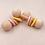 "Thumbnail: Hochet Dentition ""Mini Haltère"" en Bois Naturel Montessori - Rose"