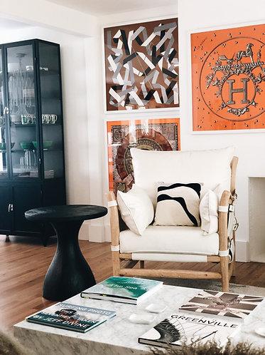 Encadrement Foulard Hermès - Cadre Noir 90 (Service)