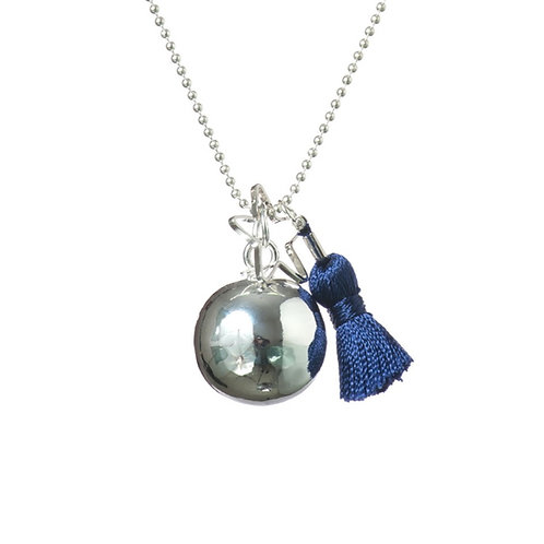 Pregnancy Baby Chime Necklace GYPSY MAMA - Navy Blue