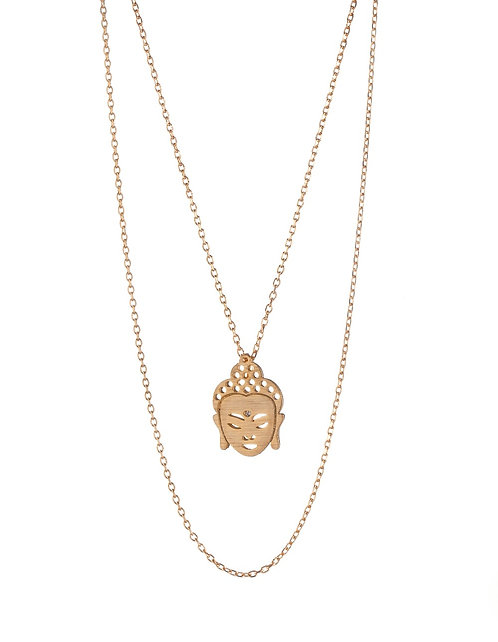 Buddha Pendant Necklace - Gold