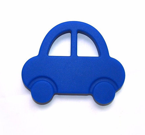 "Baby Teether ""Baby's First Car"" - Navy Blue"