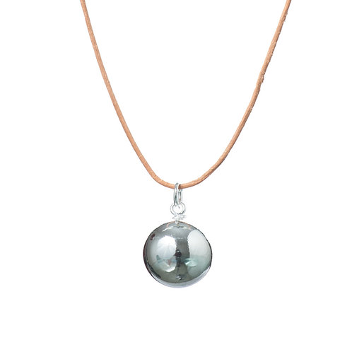 Pregnancy Baby Chime Necklace - Natural Leather
