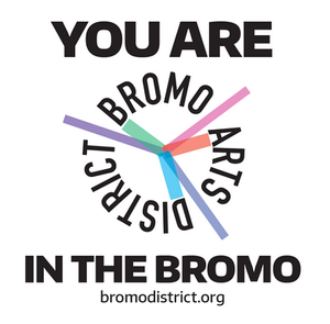 Stephen Yasko Distributes Bromo District Stickers