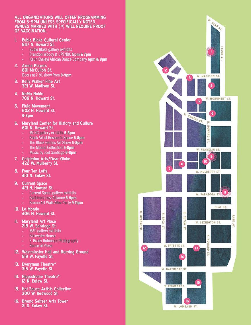 Bromo Art Walk Map September 23