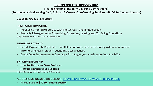 One-on-One Coaching Sessions (6.26.19).P