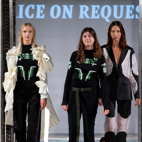 Bold, brave, eco-friendly: our Fashion Director Karine Laudort tells us why Price on Request is a LFW 'One to Watch'