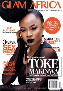 Toke Makinwa Glam Africa Cover Star