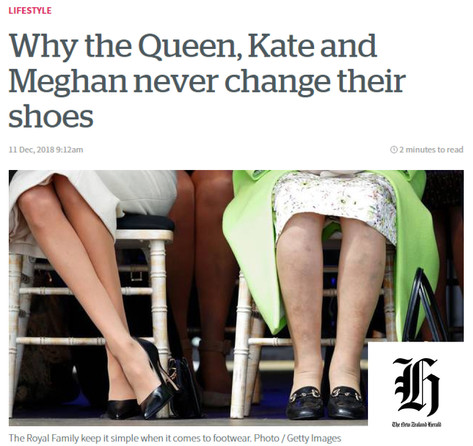 """""""Why the Queen, Kate and Meghan never change their shoes"""" NZ Herald Commentary"""