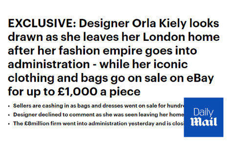 Designer Orla Kiely Goes Into Admistration - Daily Mail Commentary