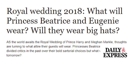 Royal Wedding 2018 - Daily Express Lifestyle Commentary