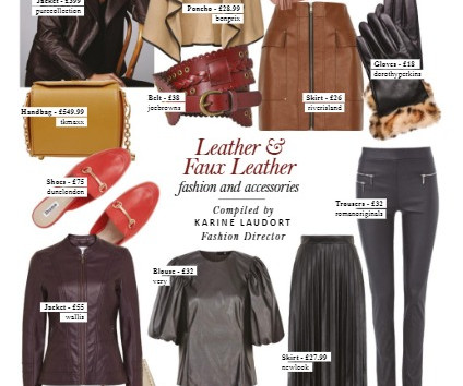 Womenswear Trends: Leather for Style in the City Magazine