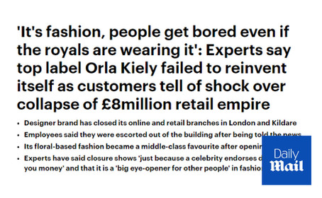 Orla Kiely Goes Into Administration - Daily Mail Commentary