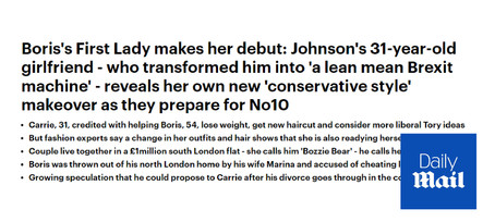 Boris's First Lady makes her debut - Daily Mail Commentary
