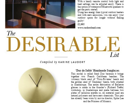 'Desirable List' Lifestyle Trends for Style of the City Magazine
