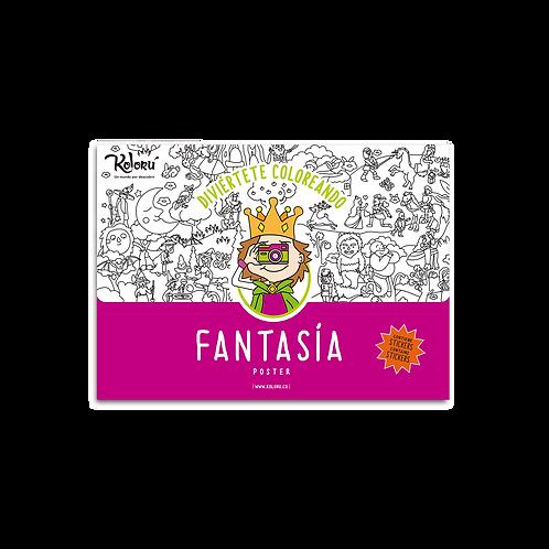 Poster Fantasía + Stickers