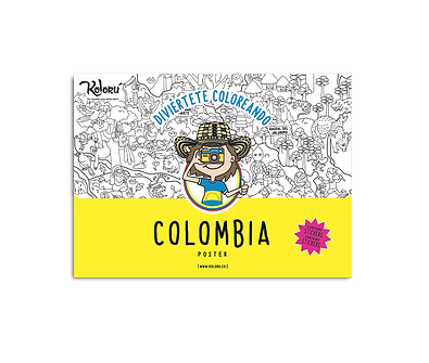 Poster Colombia + Stickers
