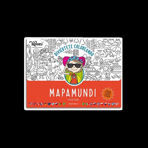 Poster Mapamundi + Stickers