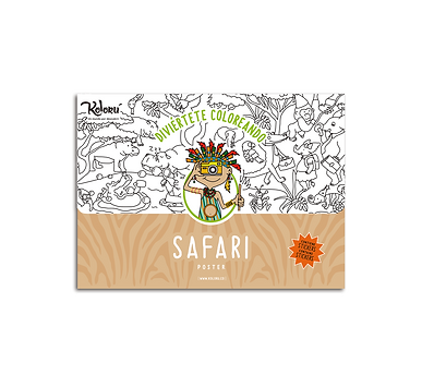 Poster Safari + Stickers