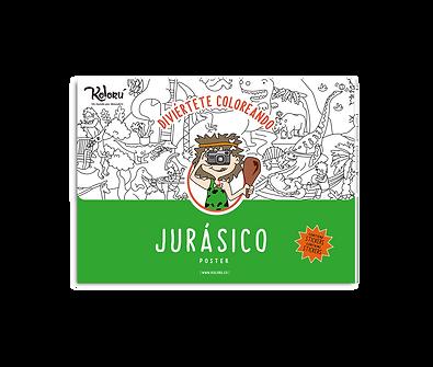 Poster Jurásico + Stickers