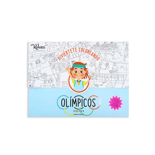 Poster Olímpicos + Stickers