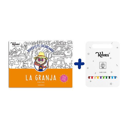 GRAN PROMO Poster Granja con stickers + colores
