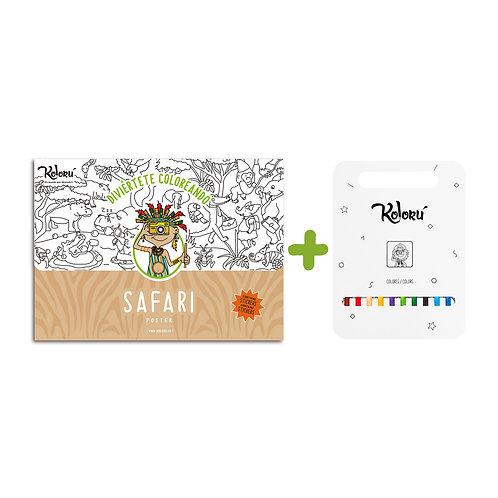 GRAN PROMO Poster Safari con stickers + colores