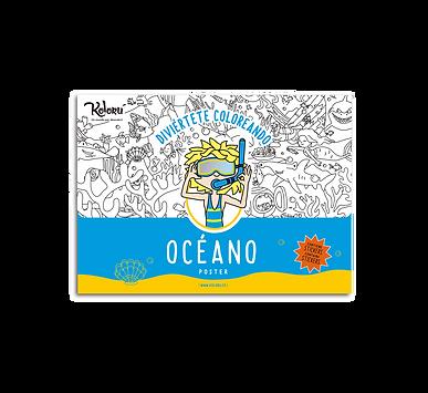 Poster Océano + Stickers