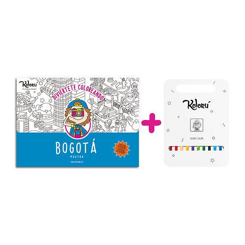 GRAN PROMO Poster Bogotá con stickers + colores