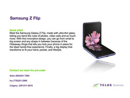 Samsung Z Flip接受预订