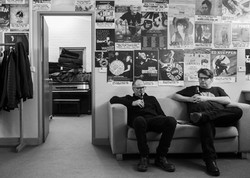 Grant and Matt backstage in Milton