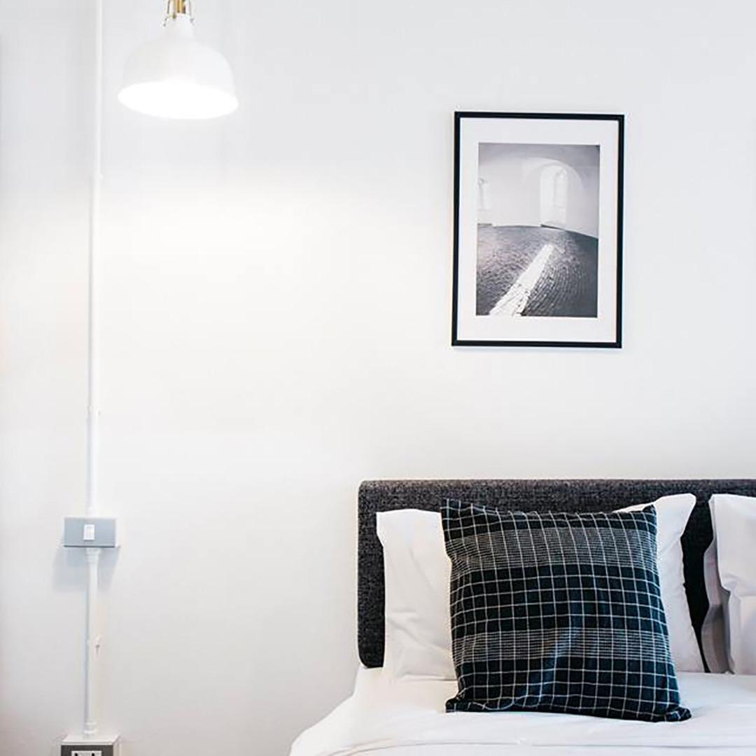 Studio Apartment with Black and white design