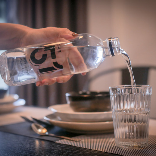 Keep yourself hydrated with complimentary water
