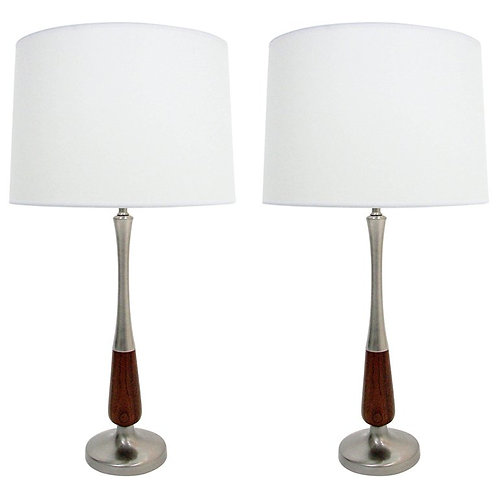 Updated mid-century table lamps