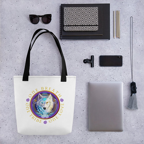 Tote Bag - White - Raven/Wolf - VR