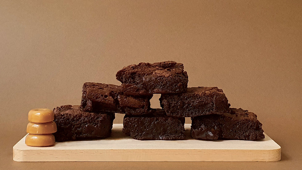 We respect that you go against the grain glutenfree brownie (6 pcs per box)