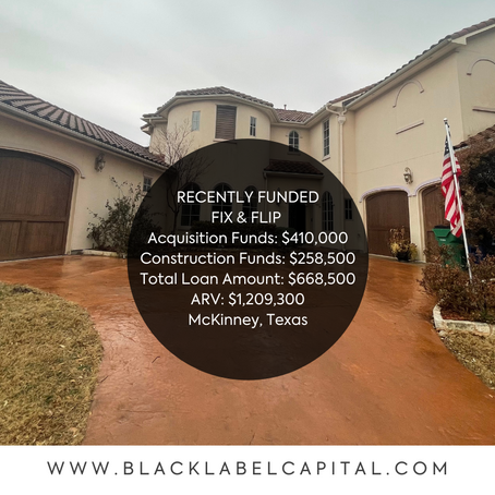 Recently Funded-McKinney, TX Fix & Flip Loan