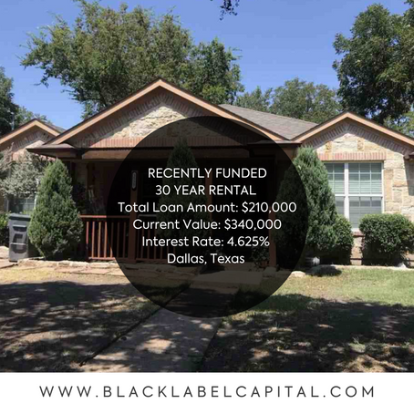 Recently Funded-Dallas, TX 30 Year Rental Loan