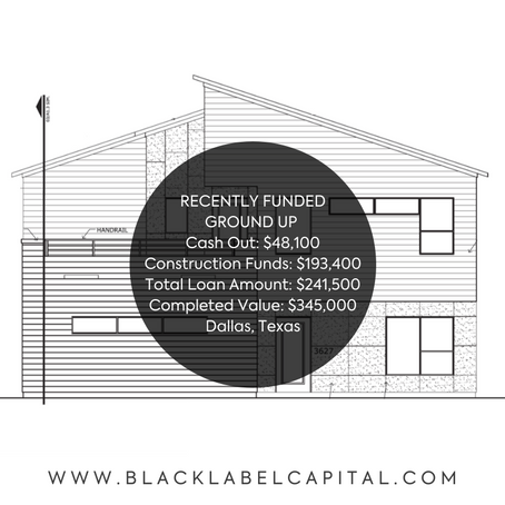 Recently Funded-Dallas, TX Ground Up Construction Loan