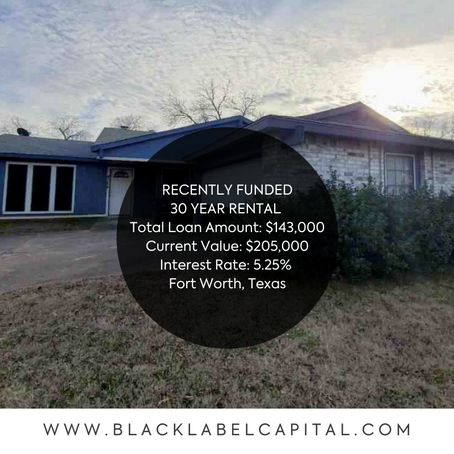 Recently Funded-Fort Worth, TX 30 Year Rental Loan
