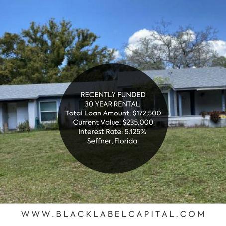 Recently Funded-Seffner, FL 30 Year Rental Loan