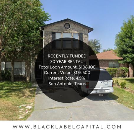 Recently Funded-San Antonio, TX 30 Year Rental Loan