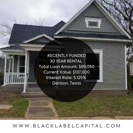 Recently Funded-Denison, TX 30 Year Rental Loan