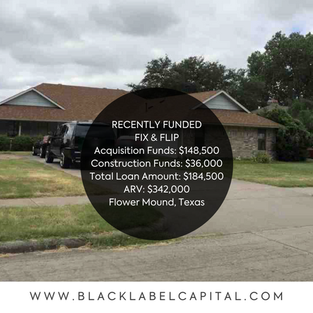 Recently Funded-Flower Mound, TX Fix & Flip Loan