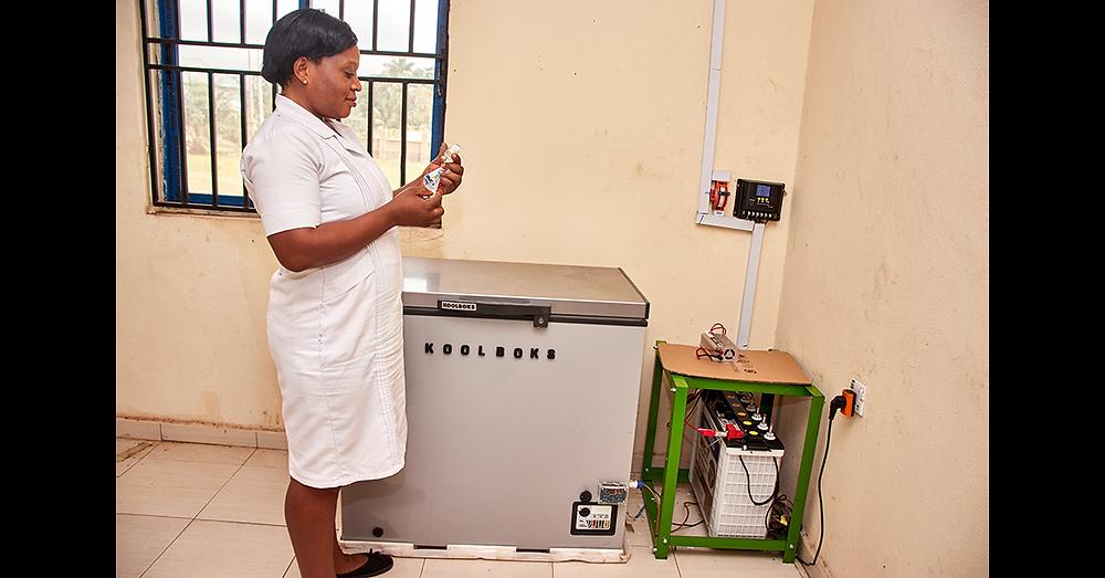 Koolboks' Paygo-enabled solar freezer