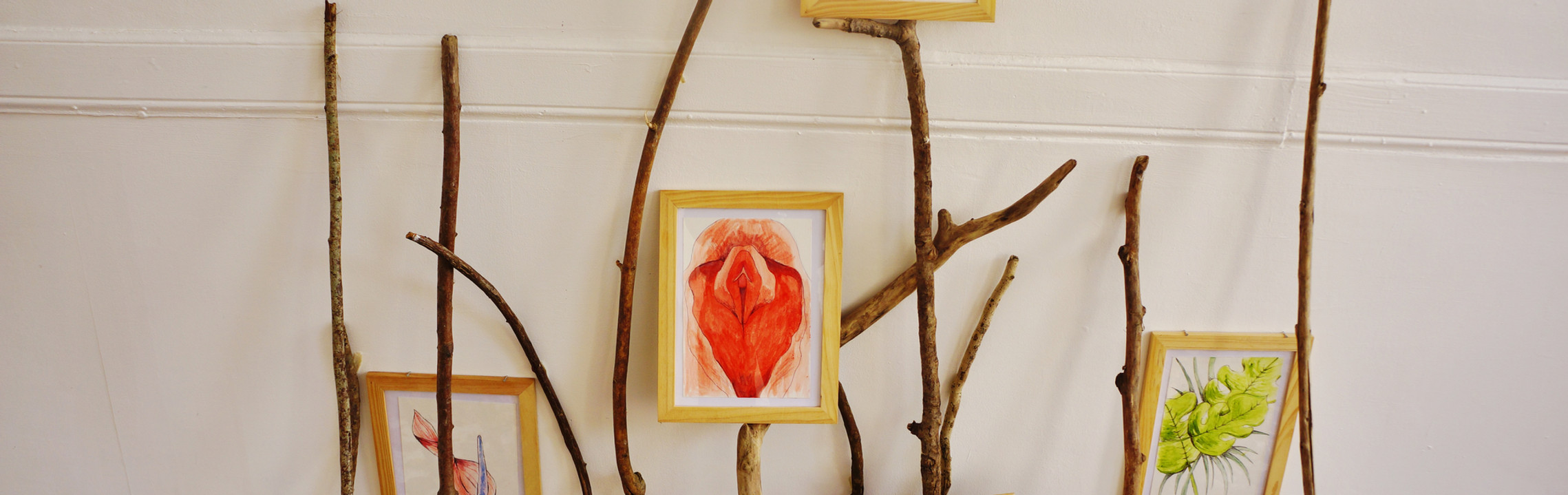 """Fleurs anatomiques"", aquarelles, 2019"