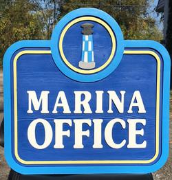 Marina Office Sign
