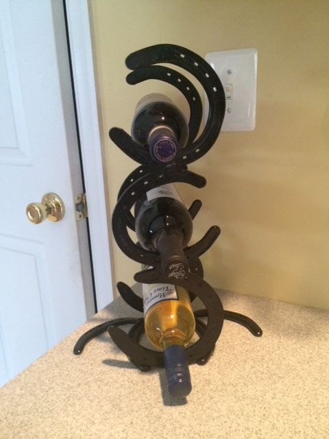 Horse Shoe Wine Rack
